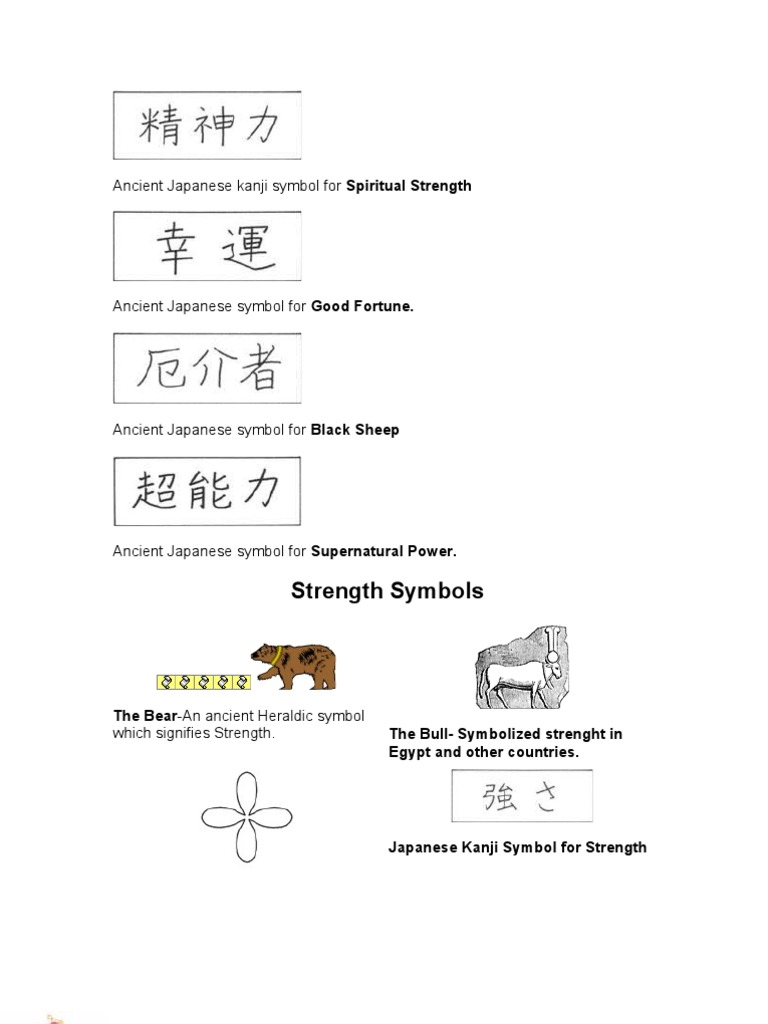 Ancient japanese kanji symbol for spiritual strength wicca goddess biocorpaavc Image collections