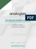 Encuesta Analogías en CABA Y GBA sobre el Gobierno