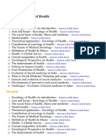 Sociology of Health - Lecture Notes, Study Material and Important Questions, Answers