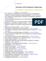 Structural Dynamics and Earthquake Engineering - Lecture Notes, Study Material and Important Questions, Answers