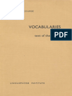 3 - Vocabularies and Text of the Sounds