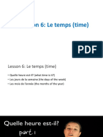 Lesson 6_Le Temps (Time)