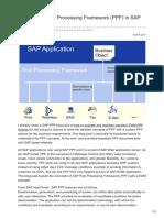 Understand Post Processing Framework PPF in SAP EWM by TK Reddy