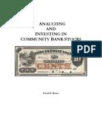 Analyzing Thrifts Primer - 08.06.10