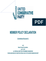 United Conservative Party Constitutional Document 2 - Member Policy Declaration - V2.0 (Member Proposal Consolidation)