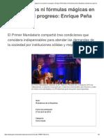 No Hay Atajos Ni f Rmulas m Gicas en El Camino Al Progreso Enrique Pe a Nieto Presidencia de La Rep Blica Gobierno Gob Mx