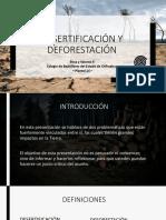 La Desertificación y Deforestación