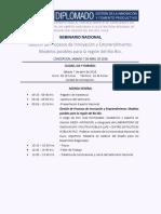 Agenda Seminario Nacional 7 Abril 2018