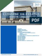 Boletin 203 Del Consejo de Estado