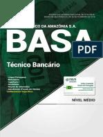Apostila BASA - Técnico Bancário (2018) - Nova Concursos