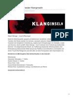 Tonkünstler-Orchester Klanginseln - Silent Strings