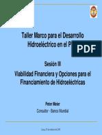 Financiamiento de hidroeléctricas