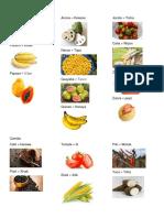 Frutas y Verduras en Xinca