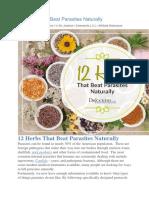 12 Herbs That Beat Parasites Naturally