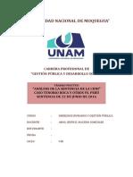 Análisis de La Sentencia de La CIDH - LISTO