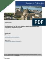 Derecho Forestal Guía Internacional