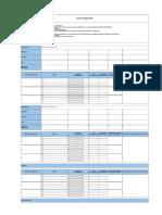 Formato Plan de Trabajo Bajar Excel y Completar