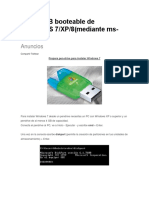 Crear USB Booteable de WINDOWS 7