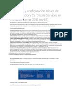 Instalación y Configuración Básica de Active Directory Certificate Services en Windows Server 2012