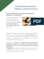 Controle de Documentos Externos