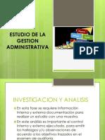 Estudio de La Gestion Administrativa