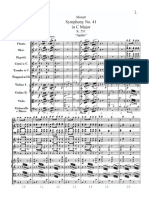 Score - Mozart Symphony 41 - Jupiter - First Movement x