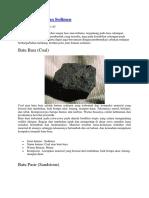 Jenis Jenis Batuan Sedimen