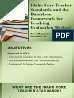 idaho core teacher standards and the danielson framework-kh