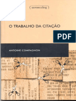 Antoine Compagnon-O Trabalho Da Citação-UFMG (1996)