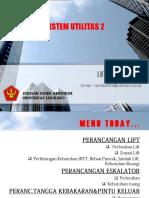 Sistem Utilitas Lift