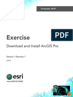 Section1Exercise1_DownloadAndInstallArcGISPro