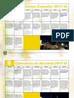 Christmas Calendar 2017 Bilingual