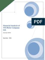 Financial Analysis of TVS Motor Company Ltd