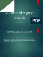 qualities of a great teacher