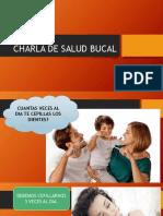Charla de Salud Bucal