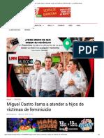 02-05-18 Miguel Castro llama a atender a hijos de víctimas de feminicidio