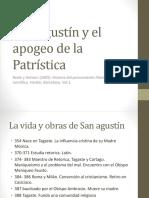 San Agustín y El Apogeo de La Patrística