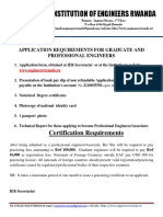 Registration Requirements Graduate and Professional Engineers