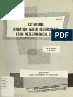 Estimating Crop Irrigation Requirements