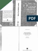 Ong w j 1982 Oralidad y Escritura