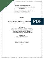Inversion indirecta extranjera en el peru