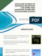 Aplicación de Perlas de Quitosano Modificado Con Hierro