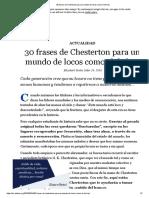 30 Frases de Chesterton Para Un Mundo de Locos Como El de Hoy