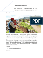 Del Medio Ambiente en La Municipalidad de San Jerónimo