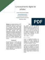 Informe de Procesamiento digital de señales