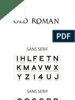 Sans Serif Practise