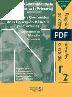 Propósitos y contenidos de la educación básica 2