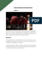 reglas baloncesto