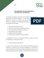Resumen Procedimiento Disposición Final Tecniamsa 2016