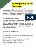 BANCOS CENTRALES FUNCIONES GENERALES